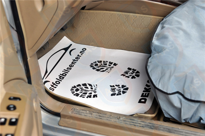 White Paper Car Floor Mat Aas